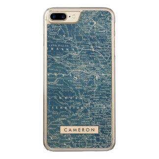US Map Blueprint Carved iPhone 8 Plus/7 Plus Case