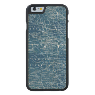 US Map Blueprint Carved Maple iPhone 6 Case