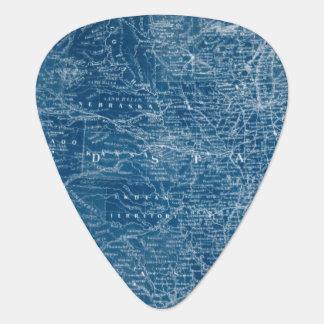 US Map Blueprint Guitar Pick