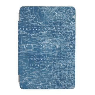 US Map Blueprint iPad Mini Cover