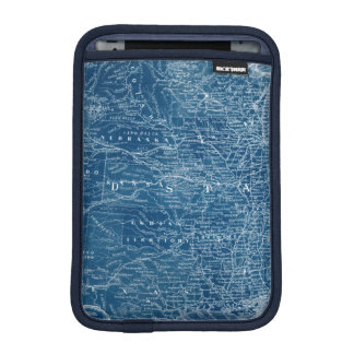 US Map Blueprint iPad Mini Sleeve