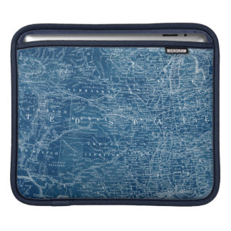 US Map Blueprint iPad Sleeve