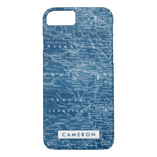 US Map Blueprint iPhone 8/7 Case