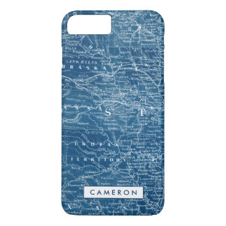 US Map Blueprint iPhone 8 Plus/7 Plus Case