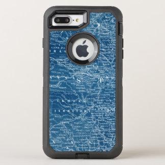 US Map Blueprint OtterBox Defender iPhone 8 Plus/7 Plus Case