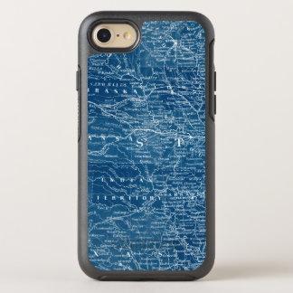 US Map Blueprint OtterBox Symmetry iPhone 8/7 Case