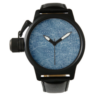 US Map Blueprint Watches