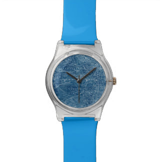US Map Blueprint Wristwatches