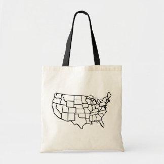 US Map Budget Tote Bag