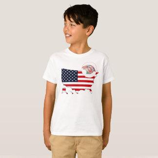 US Map & Eagle T-Shirt