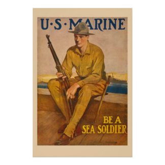 US Marine-Be A Sea Soldier Poster