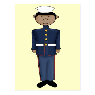 US Marine Corp Boy Postcard