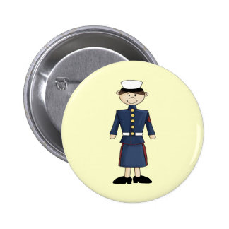 US Marine Corp Girl Buttons