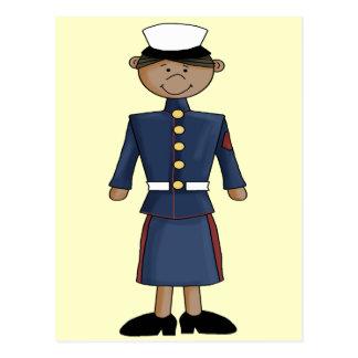 US Marine Corp Girl Postcard