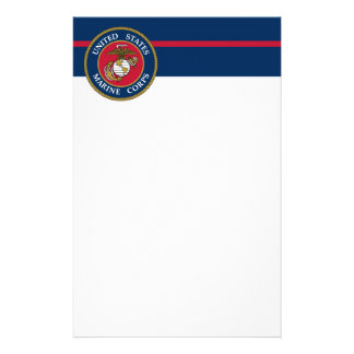 US Marine Corps - Blue Stationery