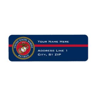 US Marine Corps - Retired Blue Return Address Label