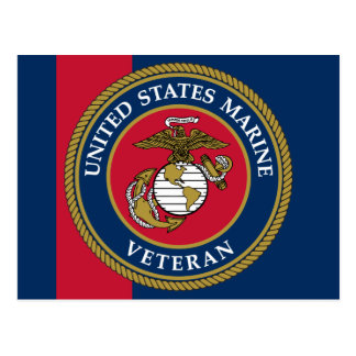 US Marine Corps - Veteran Blue Postcard
