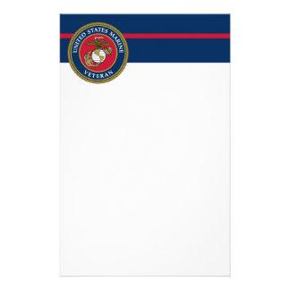 US Marine Corps - Veteran Blue Stationery