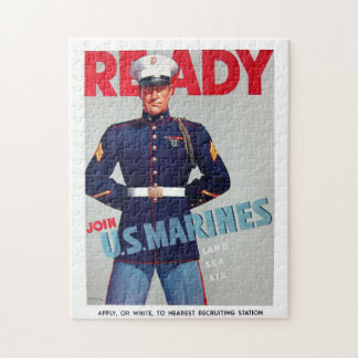 "US Marine Corps Vintage ""Ready"" Poster Puzzle"