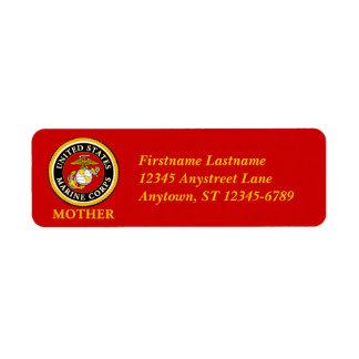 US Marine Official Seal - Mother Return Address Label