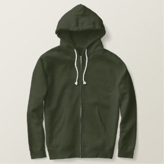 US Marine Veteran Embroidered Fleece Zip Hoodie