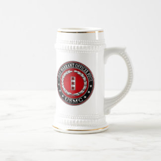 US Marines: Chief Warrant Four (USMC CWO-4) [3D] Beer Stein