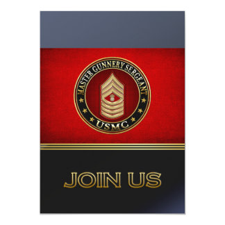 US Marines: Master Gunnery Sergeant (USMC MGySgt) Personalized Announcement