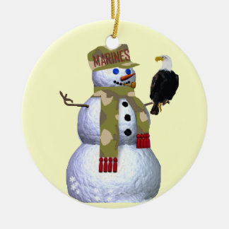 US Marines Snowman Ornament