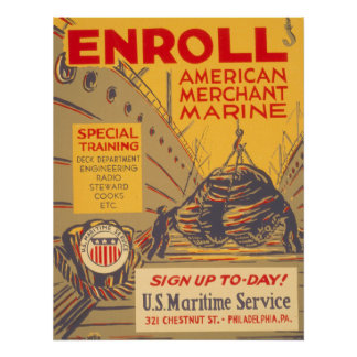 US Maritime Service Poster