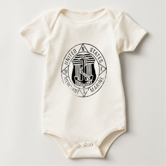 US Merchant Marines by: David Lee Baby Bodysuit