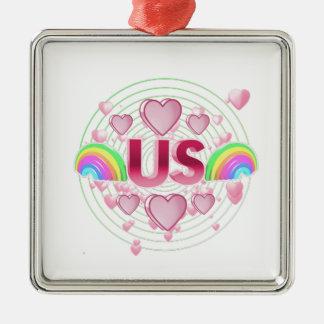 Us Metal Ornament