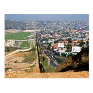 US Mexico Border Postcard