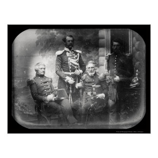 US Military Commission Crimea Daguerreotype 1855 Poster