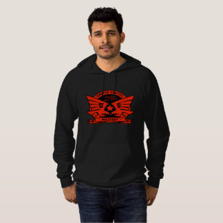 US MILITARY_red & black design Hoodie