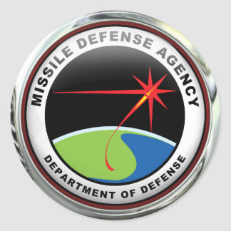 US Missile Defense Agency (pack of 6/20) Classic Round Sticker