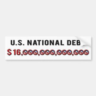 US National Debt 2012 Bumper Sticker