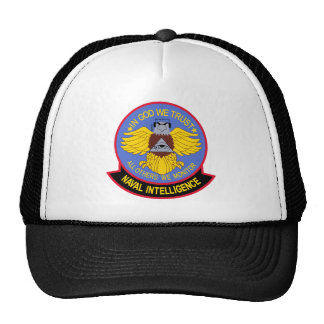 US NAVAL INTELLIGENCE Military Patch Mesh Hat
