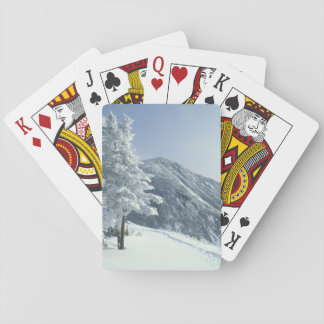 US, NH, Snow covered trees Trails Snoeshoe Poker Cards