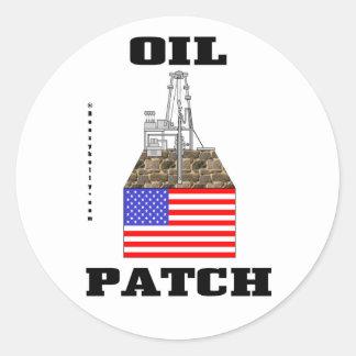 US Oil Patch,Sticker,Decal,Oil,Gas,Gift,Oilman, Round Sticker