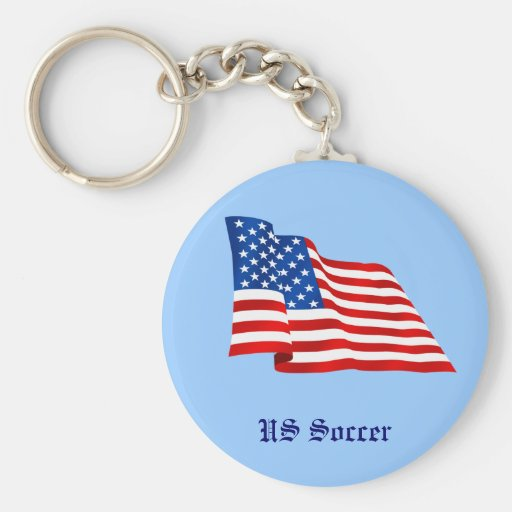 US old glory flag of the United States Keychains