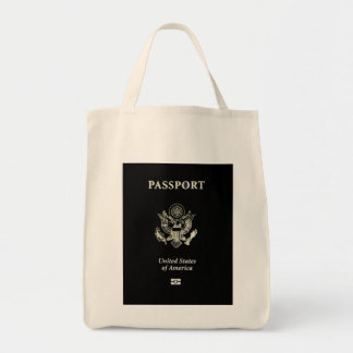 US Passport Cover Grocery Tote Bag