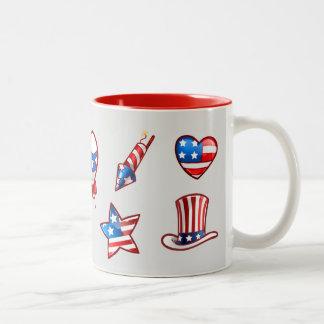 US Patriotic Design 4th of July Gift Mugs
