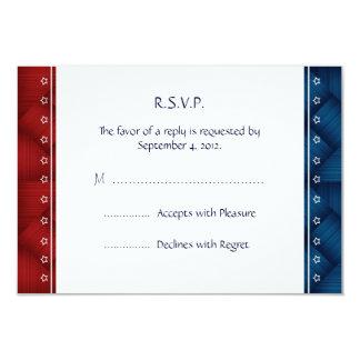 "US Patriotic Military Invitation RSVP reply Card 3.5"" X 5"" Invitation Card"