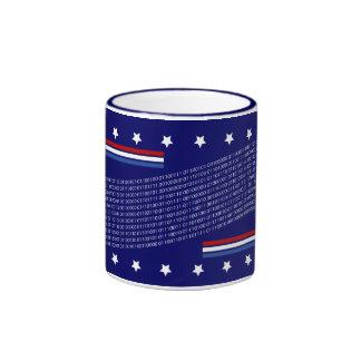 US Pledge of Allegiance in Binary Code Ringer Mug