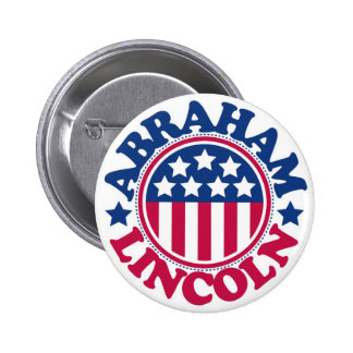 US President Abraham Lincoln 6 Cm Round Badge