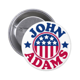 US President John Adams Button