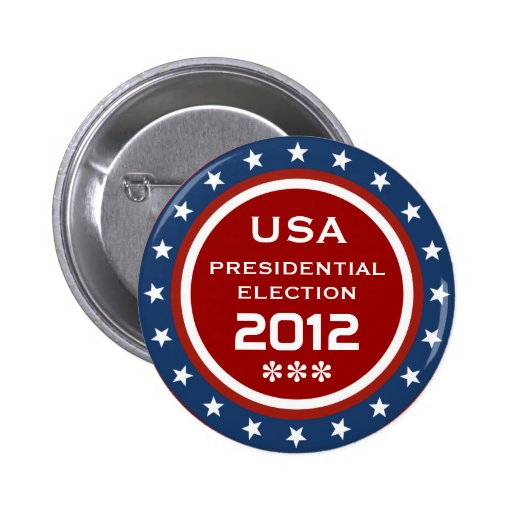 US Presidential Election 2012 Pinback Buttons