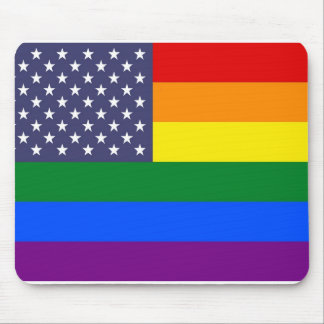 US Pride Flag Mouse Pad