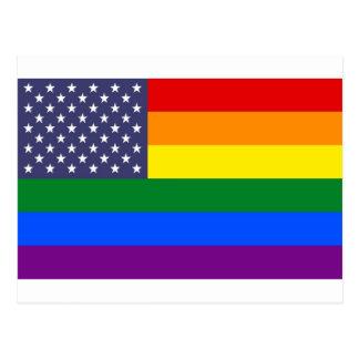 US Pride Flag Postcard