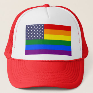 US Pride Flag Trucker Hat